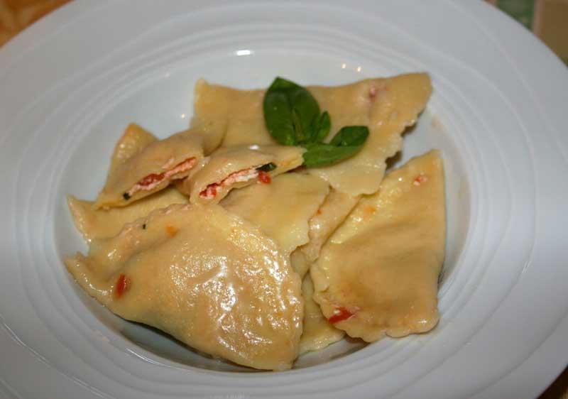 Pâtes farcies ricotte-basilic