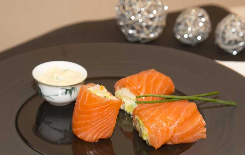 Roulade de saumon aux petits légumes