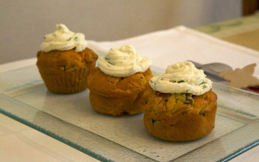 Cupcakes jambon-champignons