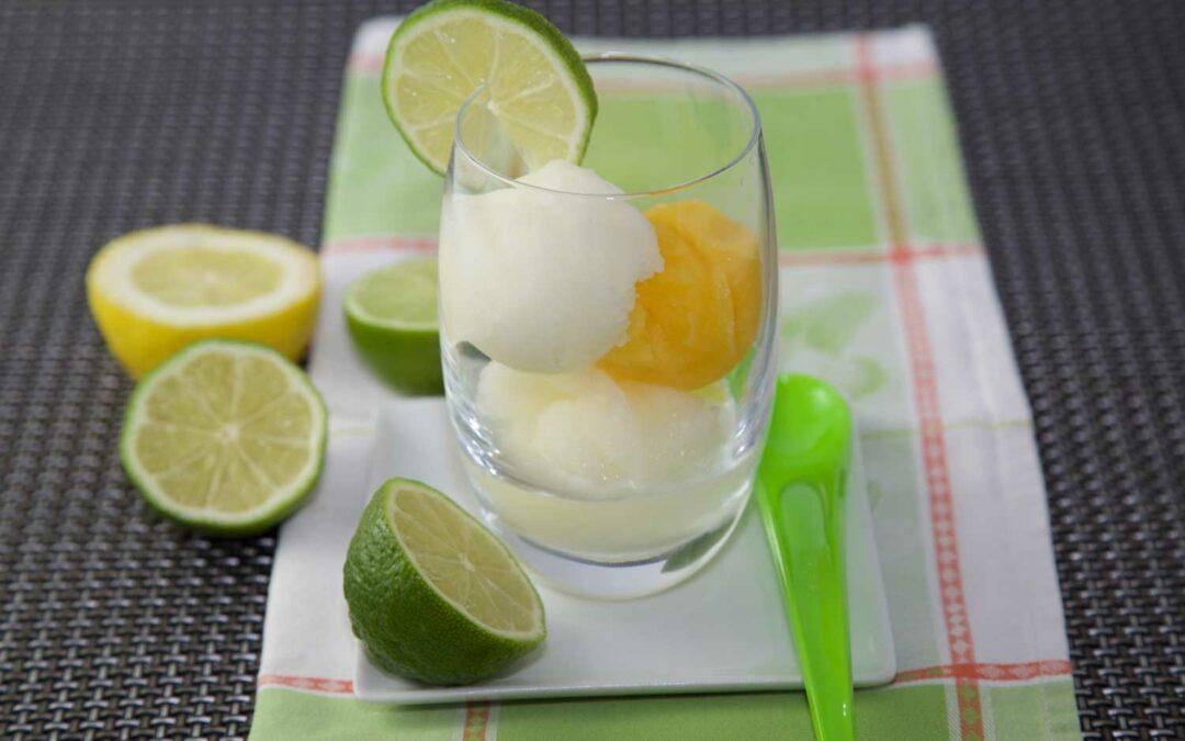 Sorbets orange et citron