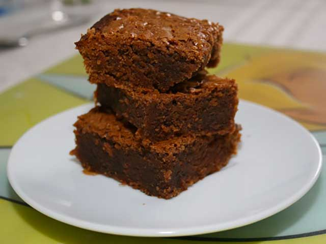 Brownie au caramel