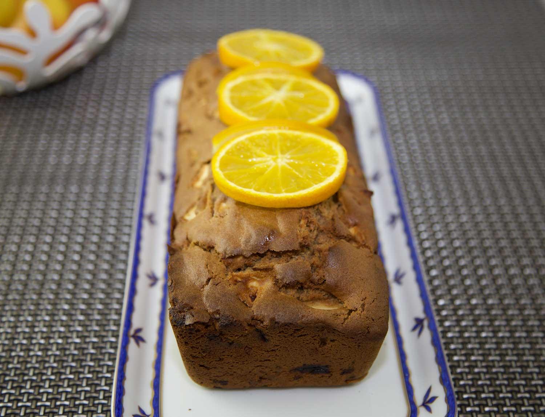 Cake châtaigne pomme orange