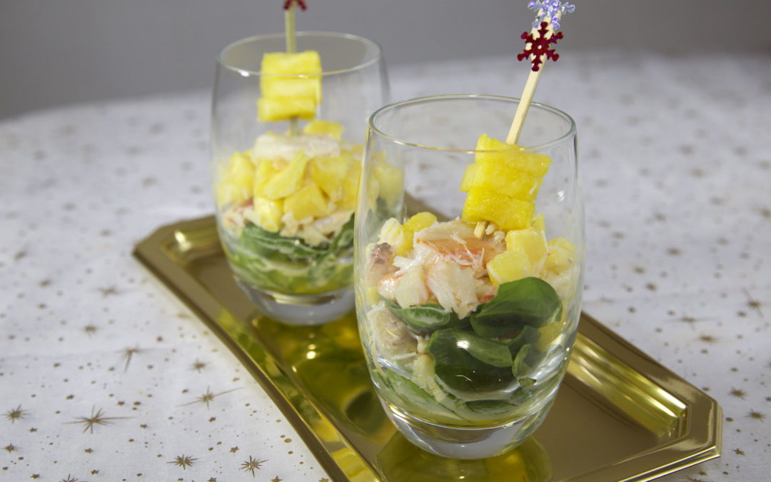 Cocktail crabe-ananas