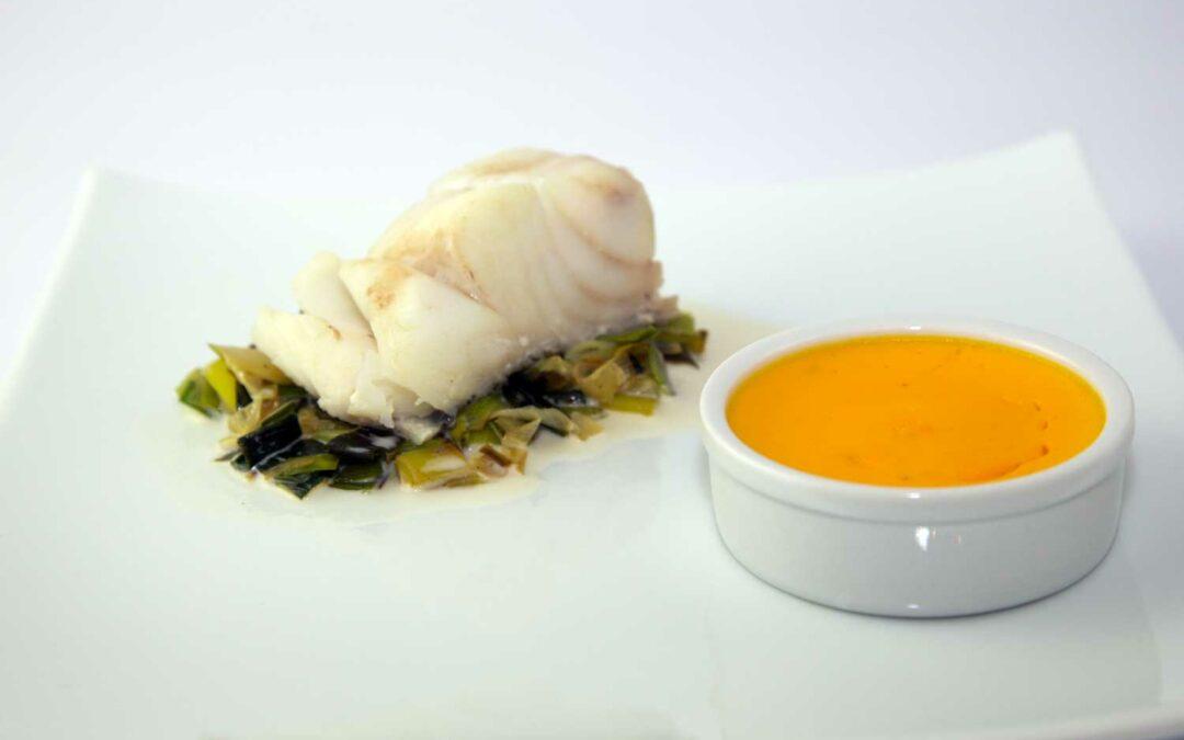 Lieu jaune crème brûlée à la carotte