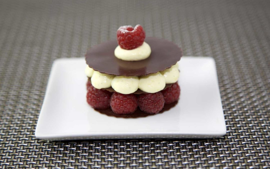 Millefeuille chocolat framboise