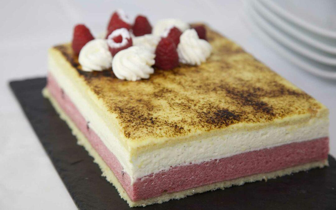 Entremet vanille fraise