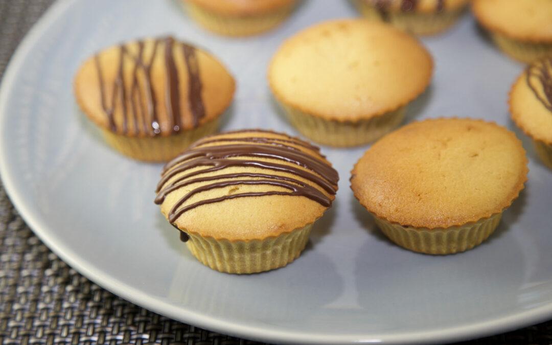 Petits cakes coeur praliné