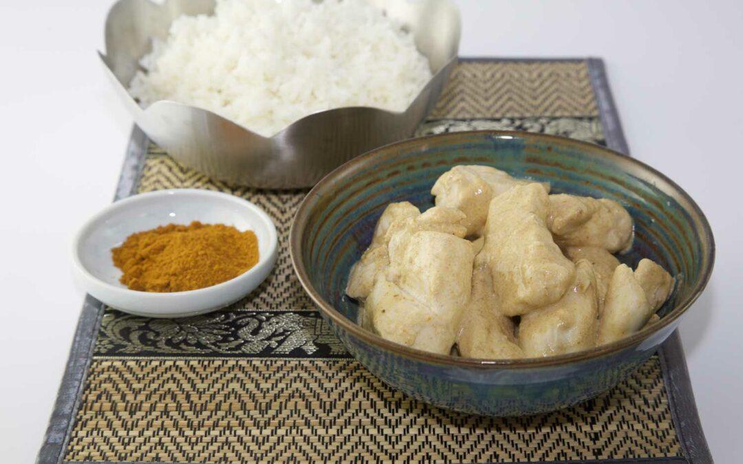 Poulet au curry vert et aux épices