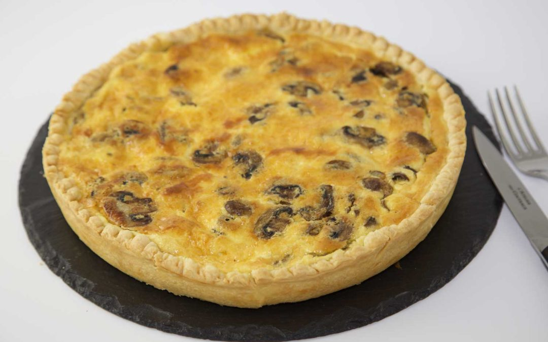 Quiche bacon champignons